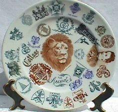 O.P.Co salesman's sample plate, Onandaga China Company - Syracuse China. Kathleen Lathom Collection - Little Spoon's Virtual Museum of Restaurant China.