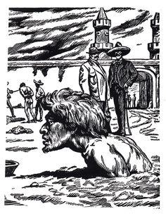 """Leopoldo Mendez """"La Situacion del Campesino"""". Lithograph. c1930s-40s"""