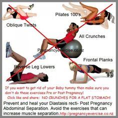 Diastasis recti exercises to avoid during and beyond pregnancy.  How to avoid abdominal separation during pregnancy: Exercise, Posture and Nutrition   #diastasisrecti #pregnancyexercise