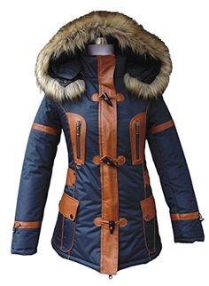 Doudoune cuir et fourrure bi-matière  Amazon.fr  Vêtements et accessoires 471e473880f