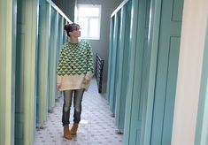 Garland Sweater-poncho - Pickles