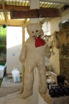 Great game idea for voodoo theme~tempt your fate. Dawn has a bunch of pics, if you follow the link to her Halloween Forum page, for voodoo/swamp related party.
