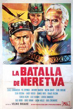 """Španski plakat za """"Bitku na Neretvi"""" Veljka Bulajića, 1969."""