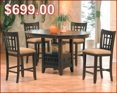 Jarvis dining table with butterfly leaf sears sears canada i oval pub set in espresso mo 4560 watchthetrailerfo