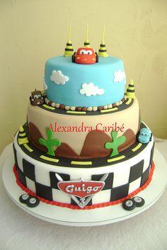 Bolo Carros Relâmpago Macqueen - Cars cake Macqueen by Alexandra Bolos Artísticos, via Flickr