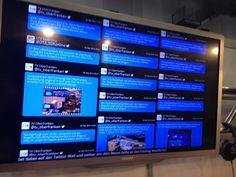 Unsere Live-Twitterwall am Stand