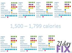 21 day fix tally sheets 1500-1799 - Google Search