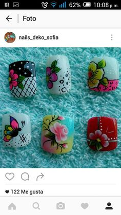 Toe Nails, Pink Nails, Nail Patterns, Flower Nail Art, Nails Inspiration, Pedicure, Hair And Nails, Nail Designs, Lily