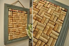 DIY Cork Board. I drink enough wine for this to be possible, and I am disorganized enough to need a bulletin board. It's win-win!