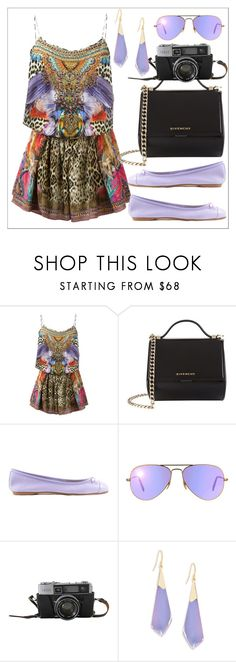 """""""Untitled #632"""" by chanlee-luv ❤ liked on Polyvore featuring Camilla, Givenchy, ANNA BAIGUERA, Ray-Ban and Alexis Bittar"""