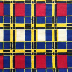 Check African Fabric-by-the-yard African wax print batik style fabric 100% cotton (2.20 GBP) by ChilliPeppa