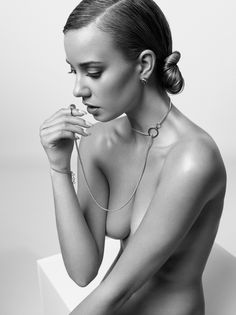 Josey - Jewellery editorial for Yume Magazine  Nude | Beautiful | Model | Black & White