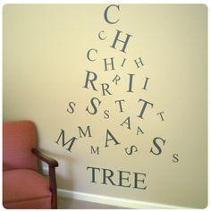 Christmas tree from the wall sticker company $85
