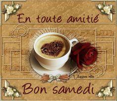 Samedi, café, amitié, rose