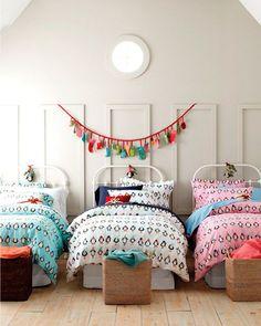 #dormitoriosinfantiles para 3! #inspiration #deco para #familiasnumerosas #decoracióninfantil #charhadas