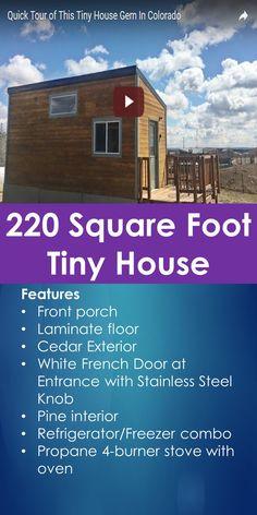 Tiny House Tour: Tour of 220 Square Foot Tiny House   Tiny Quality Homes