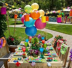 Outstanding Tropical Party Decorating Ideas Hawaiian Luau 1St Birthday Party Largest Home Design Picture Inspirations Pitcheantrous