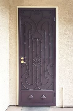View from the outside - custom wrought iron security door