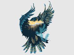 Altay Peregrine ivan belikov further up illustration graphic falcon peregrine siberian character siberian crown bird feathers taiga Art And Illustration, Landscape Illustration, Batwoman, Fantasy Kunst, Fantasy Art, Desenho Tattoo, Inspiration Art, Interior Inspiration, Tattoo Inspiration