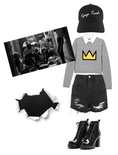 """Kpop trash"" by alejandra-diaz-rincon on Polyvore featuring Alice + Olivia and Topshop"