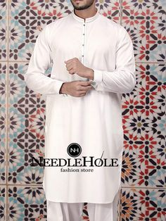 c284099457acdb Mens kurta shalwar design in off white color