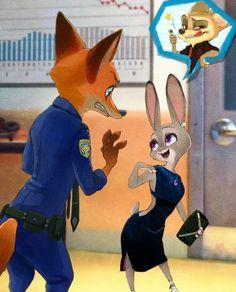 Nick maybe is jealous. Nick Wilde, Disney Zootropolis, Disney Fan Art, Cute Disney, Zootopia Anime, Zootopia Comic, Nick Und Judy, Pixar Animated Movies, Disney Gender Bender