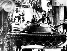 April Greece has a right-wing coup led by Col. George Papadopoulos and Brig. Stylianos Pattakos, beginning a military dictatorship. Great Photos, Old Photos, Military Dictatorship, Colonel, M48, John Kennedy, Athens Greece, Interesting History, Greece Travel
