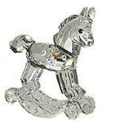 Retired Swarovski Crystal Figurines   Swarovski Crystal Figurine #183270, Rocking Horse, Retired,
