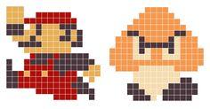 8-Bit Mario n Goomba by RustyNutt on DeviantArt