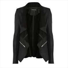 Leather Drape Jacket