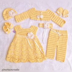 Crochet Patterns Newborn Girl& Clothing, Bring home baby girl outfit, baby knitwear set, handmade, O. Baby Girl Crochet, Crochet Baby Clothes, Newborn Girl Outfits, Toddler Outfits, Baby Boy Christening Outfit, Newborn Crochet Patterns, Girls Coming Home Outfit, Girls Rompers, Baby Dress