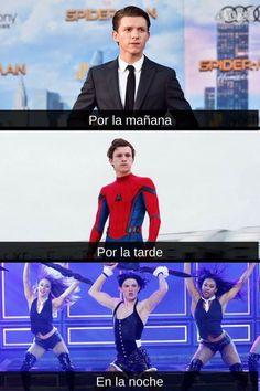 Memes Marvel, Marvel 3, Avengers Memes, Best Memes, Funny Memes, Tom Holand, Spider Man 2, Quality Memes, Laughter