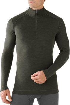 The men's SmartWool Midweight Zip-T top offers natural stretch, insulation and breathability. #REIGifts