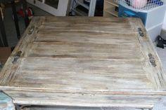 imeeshu.com annie sloan tutorial :: Restoration Hardware wood finish on an old coffee table