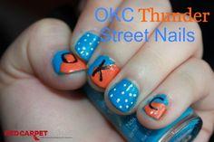 OKC Thunder Street Nails #IHeartMyNailArt