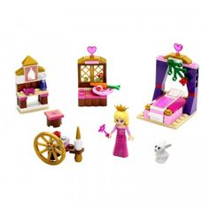 With the 96 pieces in the LEGO Disney Princess Sleeping Beauty's Royal Bedroom set, kids can build a bedroom for the Princess Aurora mini doll.