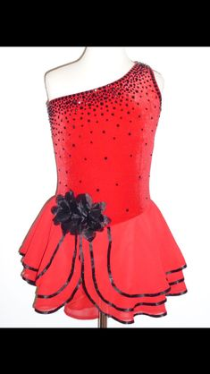 Beautiful red figure skating dress
