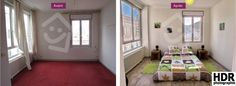 Photos de home staging avant/après à Saint-Etienne