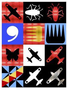 Richard Killeen prints 2007 Nz Art, Maori Art, Bats, Figurative, Printmaking, New Zealand, Grid, Pattern Design, Stencils