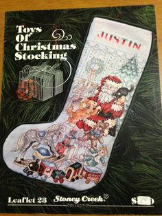 Toys of Christmas Stocking Leaflet 23 Cross Stitch Stoney Creek Pattern OOP