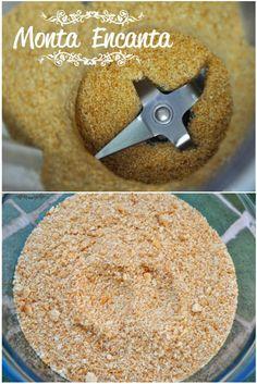 Farofa de Bolacha Maisena Base biscoito triturado maisena para tortas doces Uma dica simples e ótima para usar como massa de biscoito para tortas como cheesecakes, de ou maçã. ou ainda como cobe…