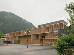 best architects architektur award // LP architektur / Holzbau Meiberger/M-Preis / best architects 14 / Gewerbe- & Industriebauten