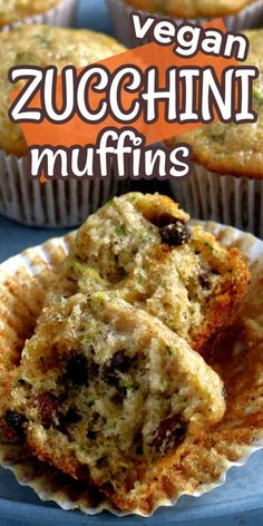 You can't beat a great recipe for zucchini muffins. It's one of the most prolific vegetables in the summer and this is just one of the delicious vegan zucchini recipes you can make. Moist and healthy in under 30 minutes. #veganzucchinimuffins #zucchinimuffinshealthykids #healthyzucchinimuffins #easyzucchinimuffins Vegan Zucchini Muffins, Vegan Zucchini Recipes, Vegan Foods, Vegetarian Recipes, Easy Gluten Free Desserts, Easy Desserts, Pavlova, Breakfast Recipes, Brunch Recipes
