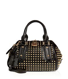 Detailed with allover gold-toned studding, this luxe leather tote from Burberry London is a chic way in inject rock'n'roll edge into your outfit #Stylebop