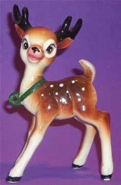 "Vintage 1950s Christmas Reindeer 6"" Tall | eBay"
