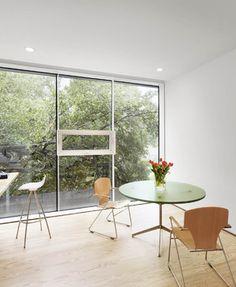 Deep Eddy Residence - modern - home office - austin - Baldridge Architects plywood floors