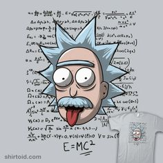 """""""Rick Einstein"""" aka """"Relatively Schwifty"""" aka """"E=MC²"""" by Theduc Albert Einstein in the style of Rick Sanchez Ricky Y Morty, Rick And Morty Tattoo, Rick And Morty Stickers, Art Visionnaire, Rick And Morty Poster, E Mc2, Alien Art, Cute Wallpapers, Cartoon Art"""