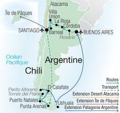 Argentine - Chili - Patagonie - Ile de Paques