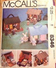McCalls 8346 sewing pattern Miniature fabric doll house ...