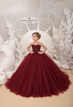 Maroon Flower Girl Dress – Birthday Wedding party Bridesmaid Holiday Maroon Lace Flower Girl Dress Maroon Flower Girl Dress Compleanno Festa nuziale Damigella d'onore Gowns For Girls, Girls Formal Dresses, Little Girl Dresses, Lace Flower Girls, Flower Girl Dresses, Baby Dress, The Dress, Kids Gown, Pageant Dresses